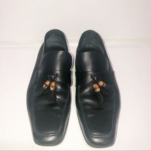 Gucci 100% authentic leather loafer bamboo tassel